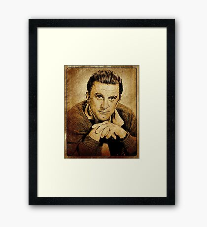Kirk Douglas Hollywood Actor Framed Print