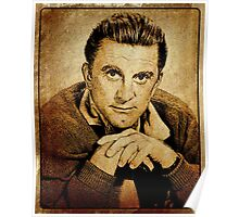 Kirk Douglas Hollywood Actor Poster