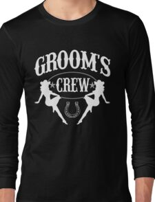 Old West Bachelor Party - Groom's Crew Version Long Sleeve T-Shirt
