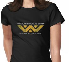 Weyland Yutani - Distressed Yellow Variant Womens Fitted T-Shirt