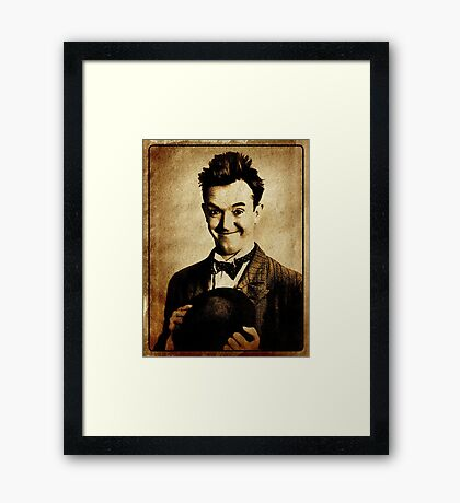 Stan Laurel Vintage Hollywood Actor Comedian Framed Print