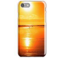 rod on a sunset beach iPhone Case/Skin