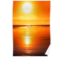 rod on a sunset beach Poster