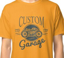 Custom Garage Vintage Morotcycle Illustration Classic T-Shirt