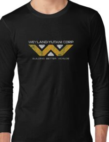 Weyland Yutani - Distressed Yellow/White Variant Long Sleeve T-Shirt