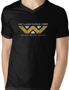 Weyland Yutani - Distressed Yellow/White Variant Mens V-Neck T-Shirt