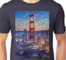 San Francisco Sky Line and the Golden Gate Bridge Unisex T-Shirt