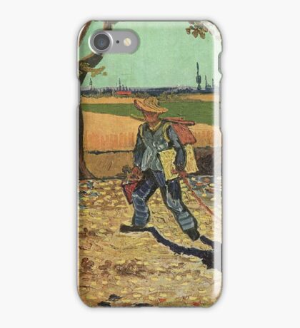 Vincent Van Gogh - Self Portrait On  Road To Tarascon ( Painter On His Way To Work), 1888 iPhone Case/Skin