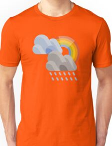 Raining and Rainbow Icon Unisex T-Shirt