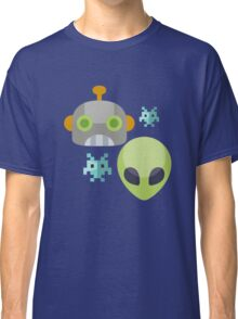 Alien Robot Space Game Icon Classic T-Shirt