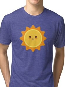 Happy Smiling Sun Emoticon Tri-blend T-Shirt