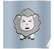 Happy Kawaii Sheep Poster