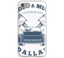 Custom Rods and Muscle Cars Dallas Graphics iPhone Case/Skin