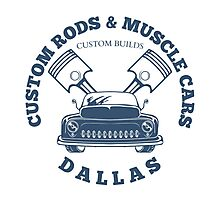 Custom Rods and Muscle Cars Dallas Graphics Photographic Print
