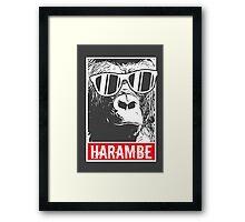 Harambe Forever Framed Print
