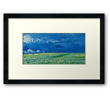 Vincent Van Gogh - Wheatfields Under Thunderclouds, 1890 Framed Print