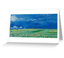 Vincent Van Gogh - Wheatfields Under Thunderclouds, 1890 Greeting Card