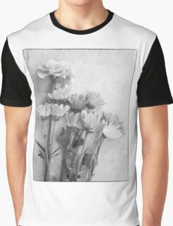 Floral Study in B&W Graphic T-Shirt