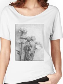 Floral Study in B&W Women's Relaxed Fit T-Shirt