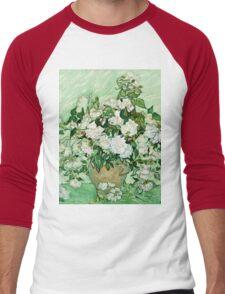 Vincent Van Gogh - Roses 1890  Men's Baseball ¾ T-Shirt