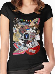 Back to the Future Trilogy MIX Women's Fitted Scoop T-Shirt