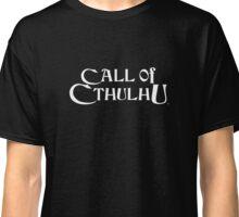 Call of Cthulhu - Logo (white) Classic T-Shirt