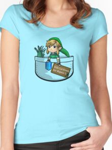 """Zelda """"Will Cut Grass For Rupees"""" Women's Fitted Scoop T-Shirt"""