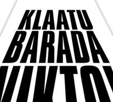 GORT! KLAATU BARADA NIKTO Sticker