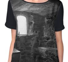 A Place For a Staring Contest Chiffon Top