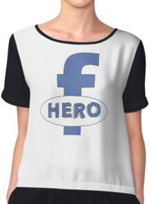 Cool Funny Facebook Hero Typography  TShirts and Gifts Chiffon Top