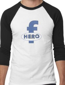 Cool Funny Facebook Hero Typography  TShirts and Gifts Men's Baseball ¾ T-Shirt