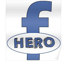 Cool Funny Facebook Hero Typography  TShirts and Gifts Poster