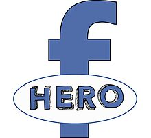 Cool Funny Facebook Hero Typography  TShirts and Gifts Photographic Print