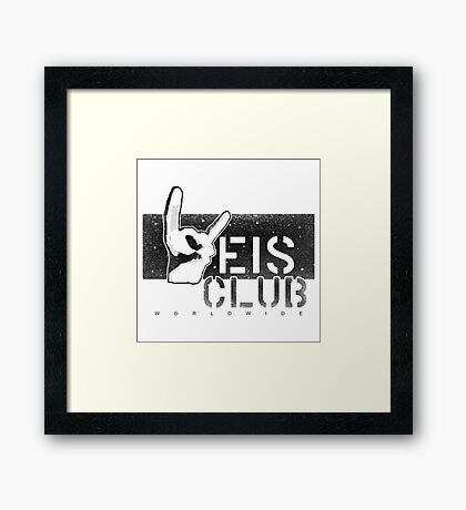 Weis Club Black and White Framed Print