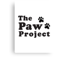 The Paw Project Logo Canvas Print