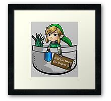 """Zelda """"Will Cut Grass For Rupees"""" Framed Print"""