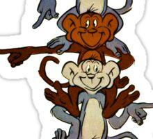 Totem Pole Monkeys Sticker
