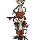 Totem Pole Monkeys by Megatrip