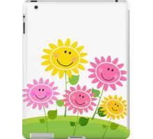 Happy Spring Flower Garden. Vector Illustration. iPad Case/Skin