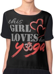 This Girl Loves her YOGA Chiffon Top