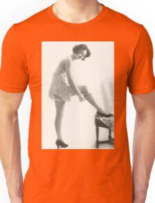 20's Lady adjusting her stockings vintage photograph Unisex T-Shirt