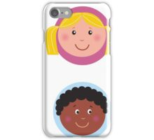 Cute diversity kids icons or buttons iPhone Case/Skin