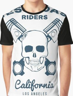 Skull and Pistons. t-shirt graphic. Illustration Graphic T-Shirt