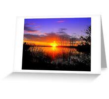 Sunset Over Jordan Greeting Card