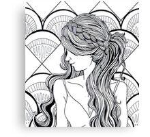 Bridesmaid Braids Canvas Print