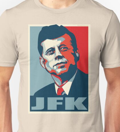 JFK Shepard Hope Style Poster (Red Blue) Unisex T-Shirt