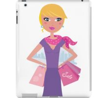 Happy blond woman on shopping in the city iPad Case/Skin