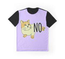 NO - Feminist Cat Graphic T-Shirt
