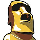 Gold Moai by Kassidy201