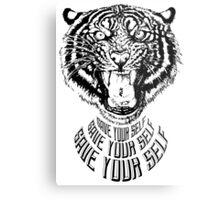 Save Your Self - Tiger Metal Print